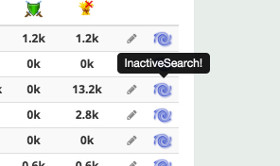 Inactive search